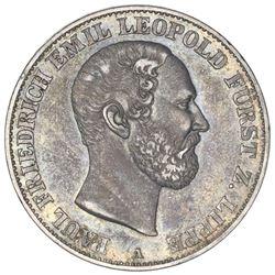 Lippe-Detmold (German States), taler, 1866-A, Paul Friedrich Emil Leopold.