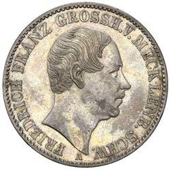 Mecklenburg-Schwerin (German States), taler, 1848-A, Friedrich Franz II.