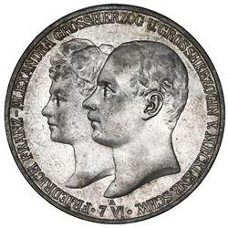 Mecklenburg-Schwerin (German States), 5 mark, 1904-A, Friedrich Franz IV, marriage of the Grand Duke