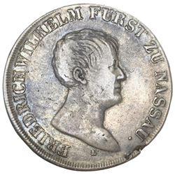 Nassau-Weilburg (German States), taler, 1813-L, Friedrich Wilhelm II, ex-Gibbs.