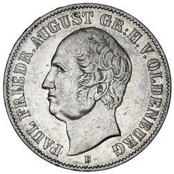 Oldenburg (German States), taler, 1846-B, Paul Friedrich August.