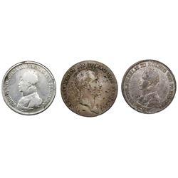 Lot of three Prussia (German States), talers of Friedrich Wilhelm III: 1814-A, 1817-A, 1818-A.