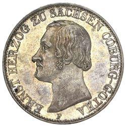 Saxe-Coburg-Gotha (German States), taler, 1846-F, Ernst II.