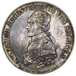 Saxony (German States), taler, 1818-IGS, Friedrich August.