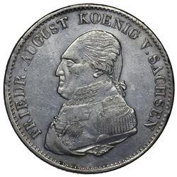 Saxony (German States), taler, 1823, Friedrich August.