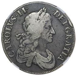London, England, crown, Charles II, 1664, NGC Fine 15.