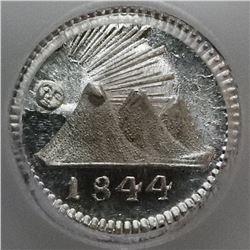 Guatemala (Central American Republic), 1/4 real, 1844, PCGS MS66.