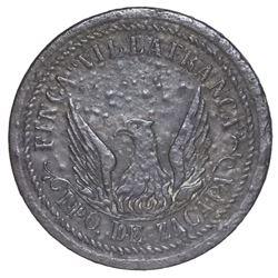 Departments of Zacapa and Izabal, Guatemala, cast copper 1 real token, Ricardo Villafranca, no date