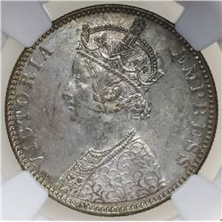 Bombay, British (India), rupee, Victoria, 1890-B, NGC MS 62.
