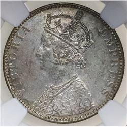 Bombay, British (India), rupee, Victoria, 1890-B, NGC MS 62.