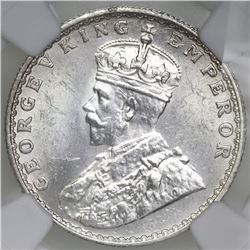 Bombay, India (British), 1/2 rupee, George V, 1936, NGC MS 62.