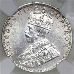 Bombay, India (British), 1/2 rupee, George V, 1936, NGC MS 62.