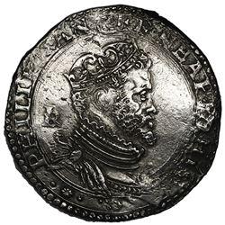 Naples (under Spain), Italian States, 1/2 ducato, Philip II, IBR in monogram to left.