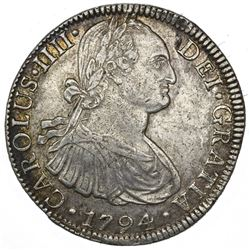 Mexico City, Mexico, bust 8 reales, Charles IV, 1794FM, ex-Jones.