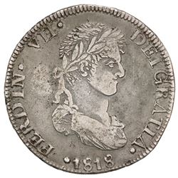 Zacatecas, Mexico, 8 reales, Ferdinand VII, 1818AG, ex-Jones.