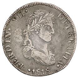 Zacatecas, Mexico, 8 reales, Ferdinand VII, 1818AG, ex-Jones.