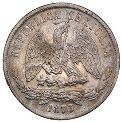 """Mexico City, Mexico, 1 peso """"balance scale,"""" 1873M, ex-Jones."""