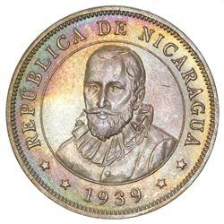 Nicaragua, 50 centavos, 1939, NGC MS 65.
