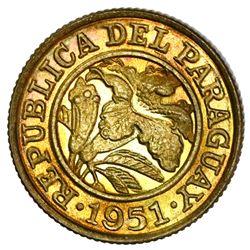 Paraguay, aluminum-bronze 25 centimos, 1951-HF, PCGS MS65.