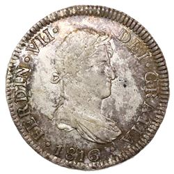 Lima, Peru, bust 2 reales, Ferdinand VII, 1816JP.