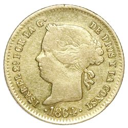 Philippines (under Spain), gold 2 pesos, Isabel II, 1864/3.