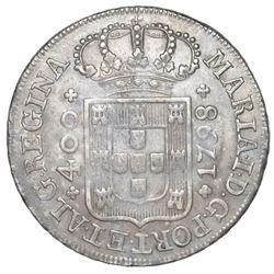 Lisbon, Portugal, 400 reis, Maria I, 1798.