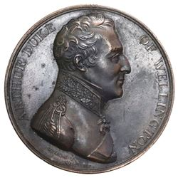 Great Britain, bronze commemorative medallion, Arthur Wellesley Duke of Wellington / Battle of Vitto