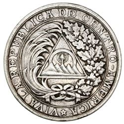 Guatemala, silver medal, 1890, Central American Union Pact of 1889.