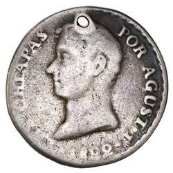 Chiapas, Mexico (Empire), 1R-sized proclamation medal, 1822, Iturbide.