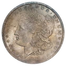USA (New Orleans mint), Morgan dollar, 1885-O, ANACS MS 65.