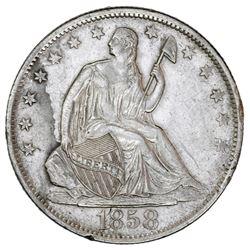 USA (New Orleans Mint), Seated Liberty half dollar, 1858-O, ex-Tuscaloosa Hoard (Civil War era).