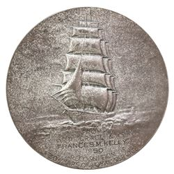 USA, large sterling silver medal by the Medallic Art Co., awarded to Frances M. Kelly by W.R. Grace