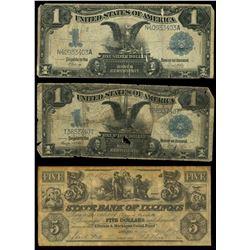 Lot of twelve notes, 1863-1957.