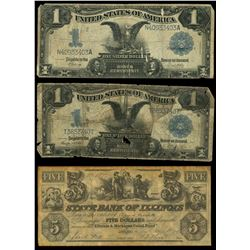 Lot of twelve notes, 1863-1957.
