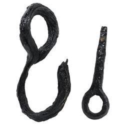 Lot of two conserved iron items (one cargo hook and one deck pin), both ex-1715 Fleet.