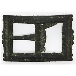 Ornate bronze shoe buckle, ex-1733 Fleet, ex-Meylach.