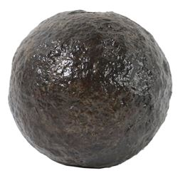 Iron cannonball (four-pounder), conserved and intact, ex-Keys wreck of the early 1700s.