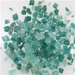 Lot of Colombian rough-cut natural emeralds.
