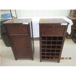 """2 Items - Cabinet & Wine Rack Both are H36"""" W 17.5"""" D 14"""""""