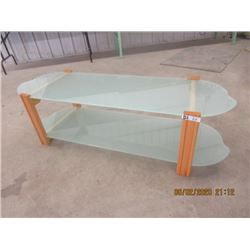 """Wood Framed Coffee Table - 2 Tier 18""""H 59""""W 18""""D"""