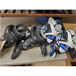 2 Sets of Roller Blades 1) Size 10 1) European 41 Figure Skates, Hockey Skates