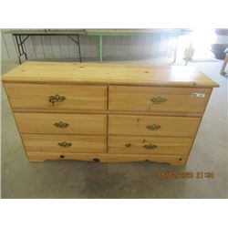 "Pine Dresser 6 Drawer 32"" x 59"" x 17"""