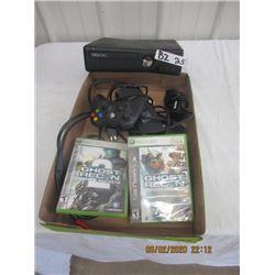 XBox 360 Machine w Accessories & 2 Games