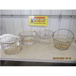 4 Items - Egg Baskets- Vintage