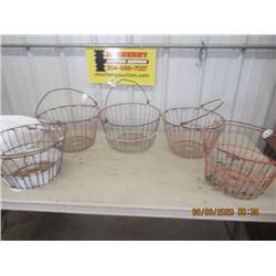 5 Items- Egg Baskets - Vintage