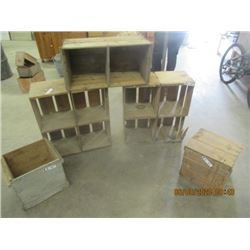 Egg Crates, and Wooden Crates - Vintage