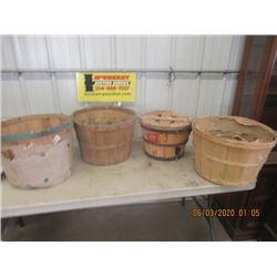 4 Items - Bushel Baskets- VIntage