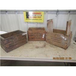 3 Items- Wood Ammo Crates - VIntage