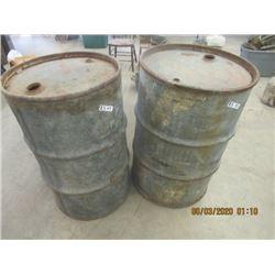 45 Gal Barrels 1) Cdn Oil Co. 1) McColl Frontenac Vintage