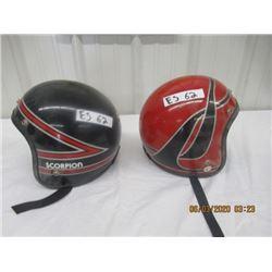 2 Items- 2 Scorpion Snowmobile Helmets - Vintage